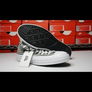 Converse Blank Canvas High Top Striped Sneaker